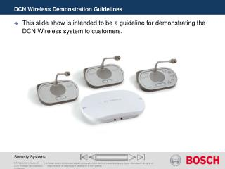 DCN Wireless Demonstration Guidelines