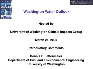Washington Water Outlook