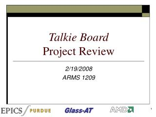 Talkie Board Project Review