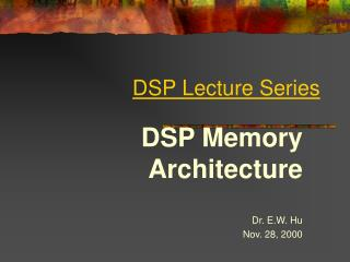 DSP Lecture Series