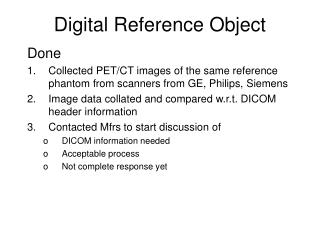 Digital Reference Object