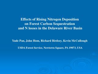 Effects of Rising Nitrogen Deposition  on Forest Carbon Sequestration