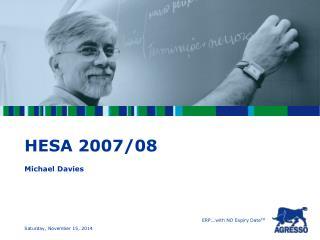 HESA 2007/08