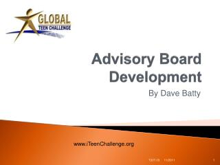 Advisory Board Development