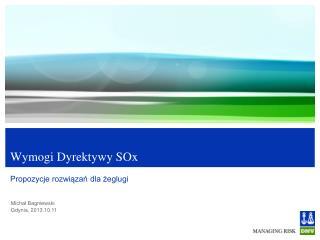 Wymogi  Dyrektywy SOx