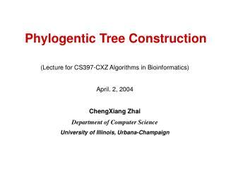 Phylogentic Tree Construction