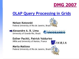 OLAP Query Processing in Grids