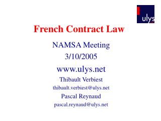 French Contract Law