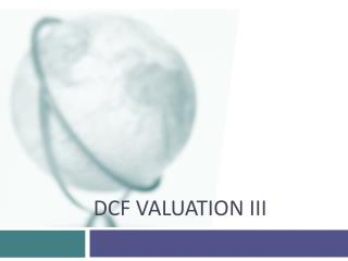 DCF Valuation III