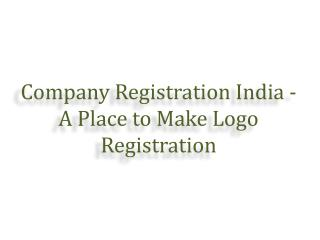 Company Registration - A Place to Make Logo Registration