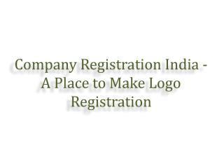 Company Registration - A Place to Make Logo Registration
