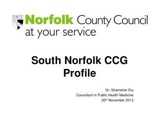 South Norfolk CCG Profile