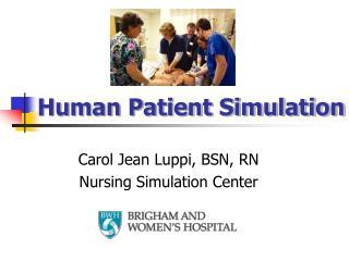 Human Patient Simulation