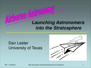 Airborne Astronomy