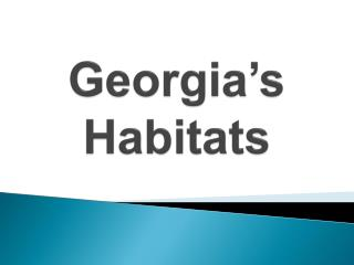 Georgia's Habitats
