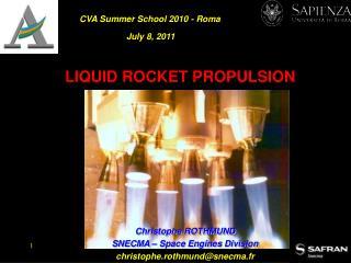 LIQUID ROCKET PROPULSION