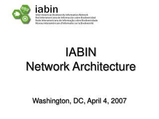 IABIN Network Architecture