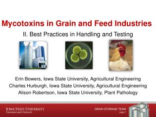 Mycotoxins  in Grain and Feed  Industries