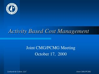 Activity Based Cost Management