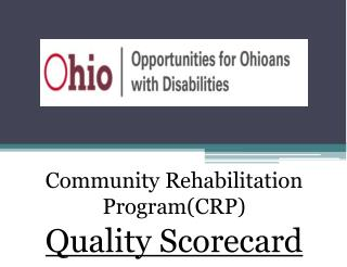 Community Rehabilitation Program(CRP)  Quality Scorecard