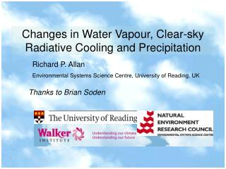 Changes in Water Vapour, Clear-sky Radiative Cooling and Precipitation
