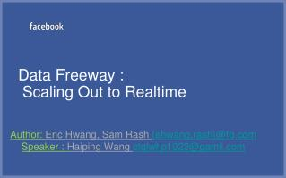 Data Freeway :  Scaling Out to Realtime
