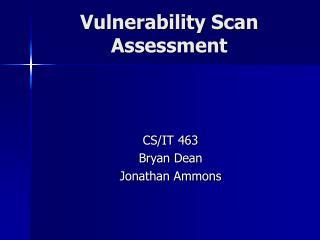 Vulnerability Scan Assessment