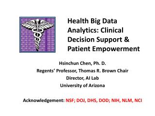 Health Big Data Analytics: Clinical Decision Support & Patient Empowerment
