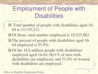 Employment of People with Disabilities
