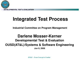 Integrated Test Process