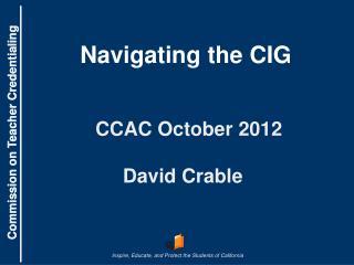 CCAC  October 2012