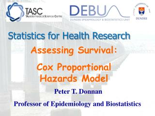 Assessing Survival:  Cox Proportional Hazards Model