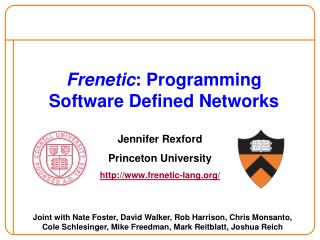 Frenetic : Programming  Software Defined Networks