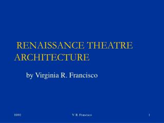 RENAISSANCE THEATRE ARCHITECTURE