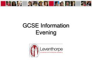GCSE Information Evening