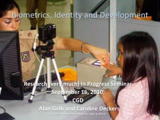 Biometrics, Identity and Development