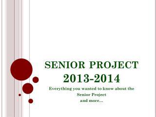 senior project  2013-2014