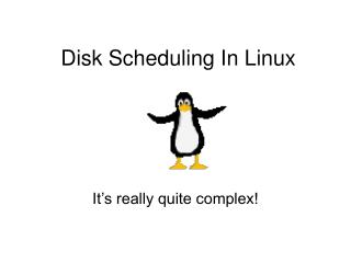 Disk Scheduling In Linux