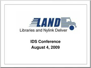 IDS Conference August 4, 2009