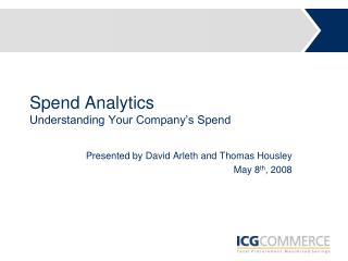 Spend Analytics Understanding Your Company's Spend