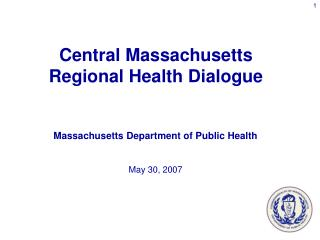 Massachusetts Department of Public Health May 30, 2007