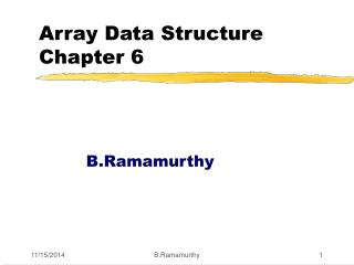 Array Data Structure Chapter 6