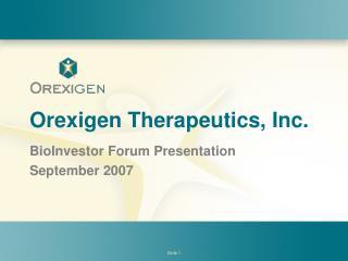 Orexigen Therapeutics, Inc.