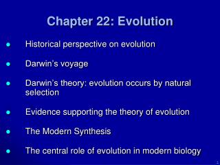 Chapter 22: Evolution