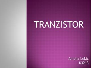 TRANZISTOR