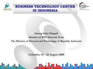 BUSINESS TECHNOLOGY CENTER  IN INDONESIA