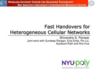 Fast Handovers for Heterogeneous Cellular Networks