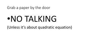 Grab a paper by the door