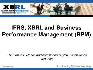 IFRS, XBRL and Business Performance Management (BPM)