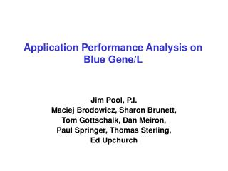 Application Performance Analysis on Blue Gene/L